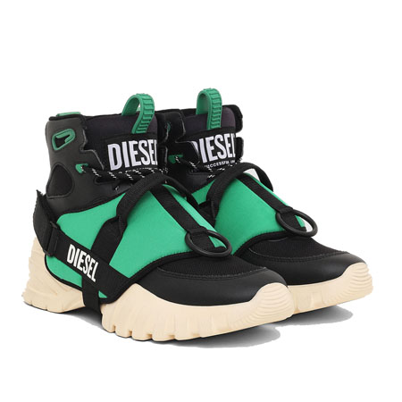 DIESEL(ディーゼル) シューズ S-SHARQUEZ MID Black/Green