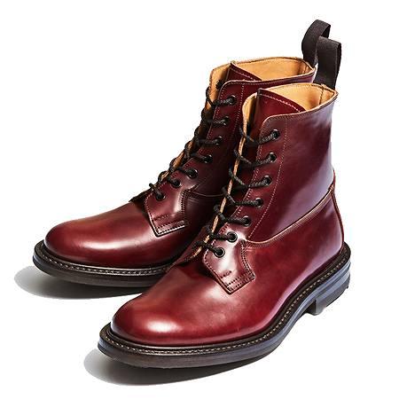 Tricker's(トリッカーズ) ブーツ 限定ソール M5635 BURFORD BURGUNDY CORDVAN RIDGEWAY SOLE