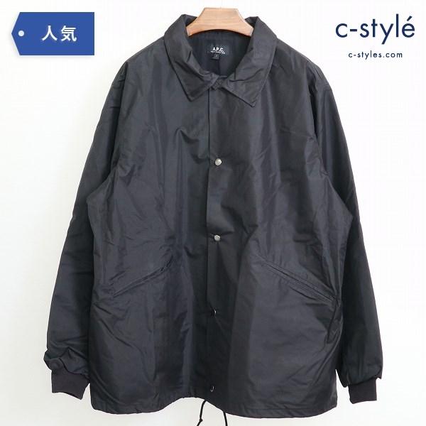 A.P.C. アーペーセー STUDER コーテイング コーチジャケット size2 Black オーバーサイズ