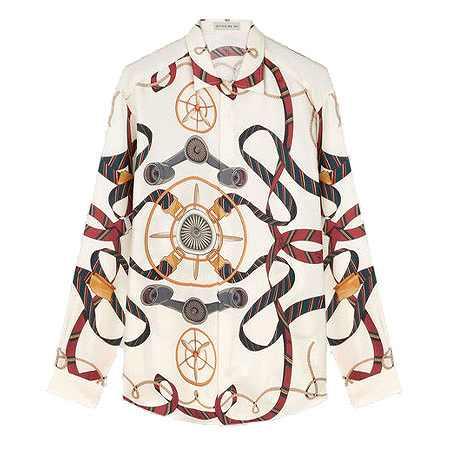 ETRO(エトロ) シャツ PEGASO レジメンタルリボン シルクシャツ