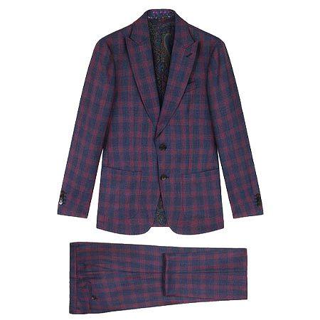 ETRO(エトロ) スーツ チェック テーラード スーツ