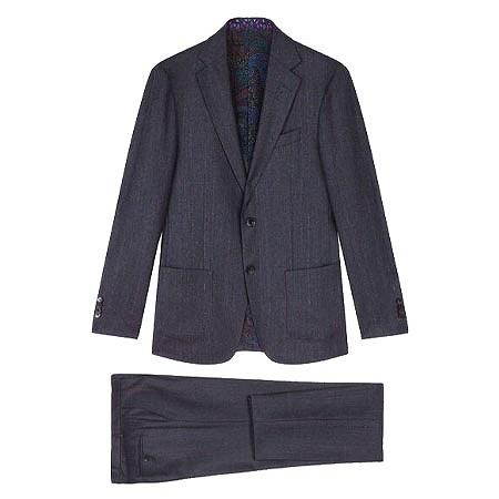 ETRO(エトロ) スーツ ストライプ柄 ウール アンコンストラクテッド スーツ