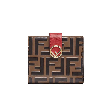 FENDI(フェンディ) 財布 レッドレザー コンパクト財布