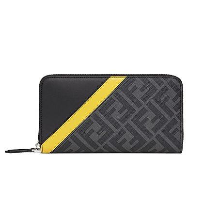 FENDI(フェンディ) 財布 グレーファブリック財布