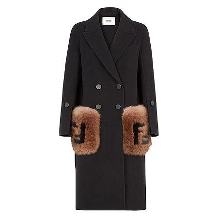 FENDI(フェンディ) ウェア ブラックウール コート