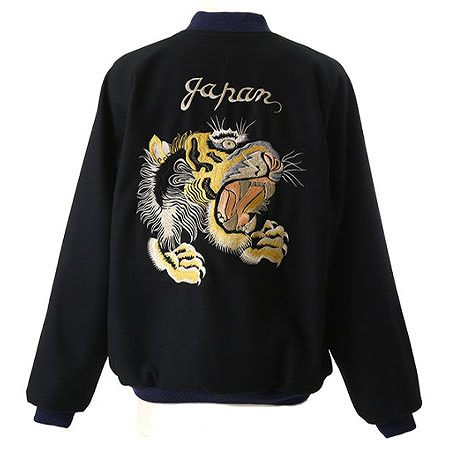 "GOLD(ゴールド) WOOL SOUVENIR JACKET ""Tiger""/""Eagle&dragon"""