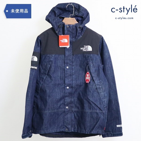 Supreme x THE NORTH FACE DENIM DOT SHOT JACKET マウンテンパーカー デニム M