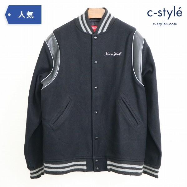 Supreme シュプリーム Nueva York Varsity Jacket ヌエバ ヨーク スタジャン ウール sizeL