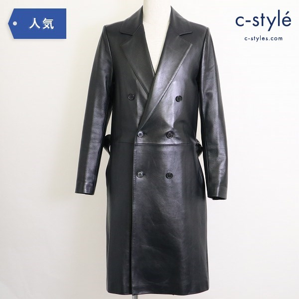 Dior Homme ディオール オム Leather Trench Coat レザー トレンチコート羊革 size46