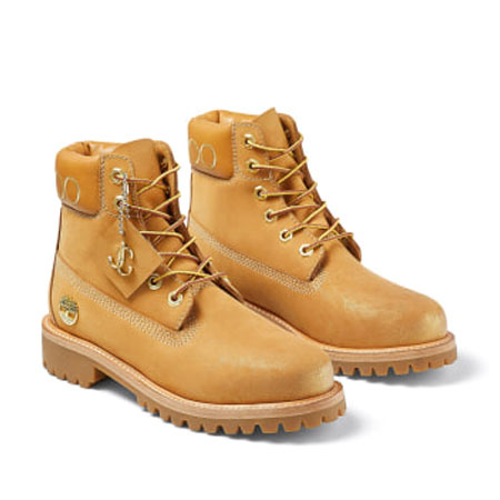 JIMMY CHOO(ジミーチュウ) シューズ JC X TIMBERLAND/F Gold グリッター付き Wheat ヌバックレザー・ブーツ