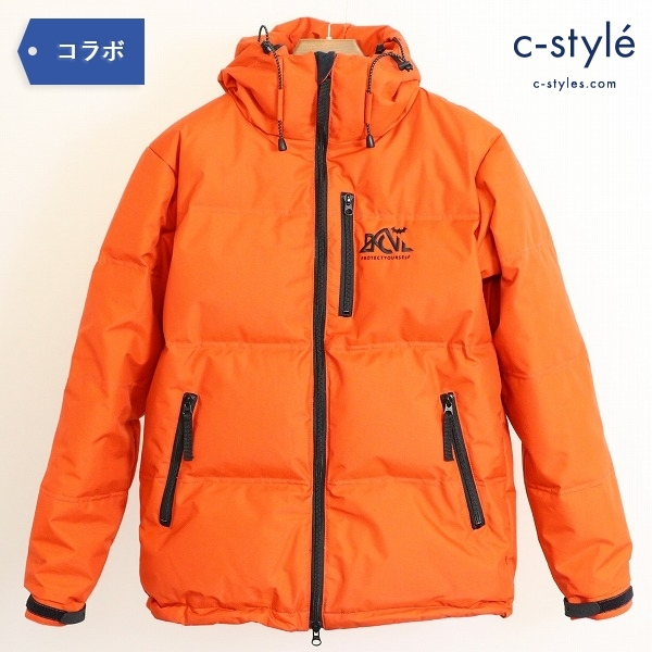 Back Channel x NANGA 3LAYER HOODED DOWN JACKET S ダウンジャケット オレンジ