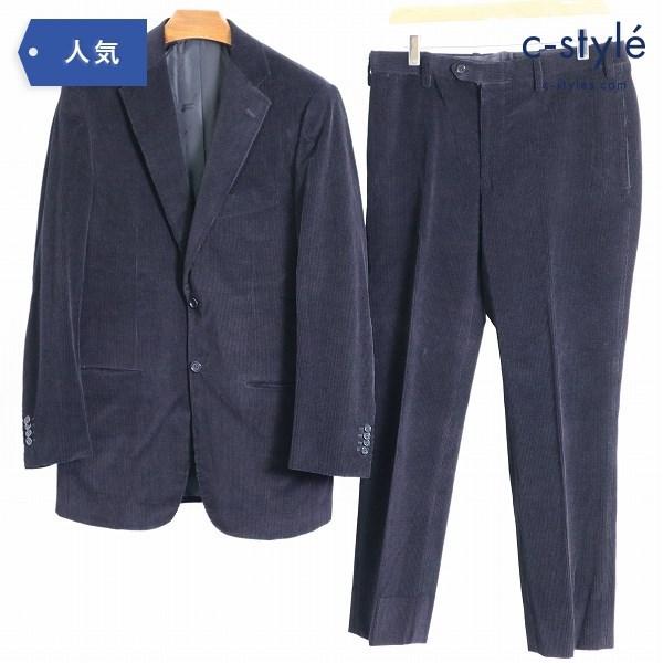 KITON コーデュロイ シングル スーツ セットアップ 2B サイドベンツ ノータックパンツ size 48