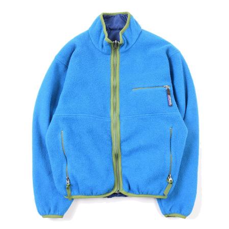 patagonia(パタゴニア) ヴィンテージ 1990's ディープウォーターxサファイア グリセードカーディガン 29300 F1 リバーシブル ナイロンxフリースジャケット USA製
