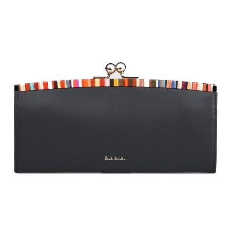 Paul Smith(ポールスミス) 財布 クロスオーバーストライプトリム 長財布