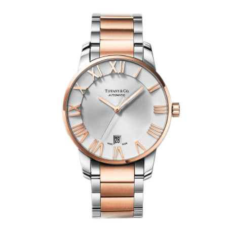 Tiffany(ティファニー) 腕時計 アトラス 3-ハンド 37.5mm ウォッチ ステンレススチール 18K ローズゴールド