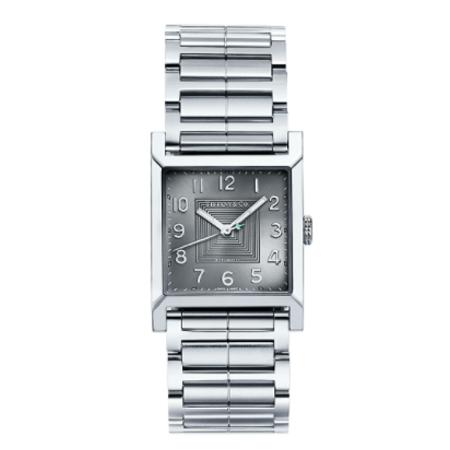 Tiffany(ティファニー) 腕時計 ティファニー 1837 メイカーズ 27mm スクエア ウォッチ ステンレススチール ダークグレー ダイヤル