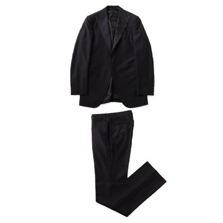 TOMORROWLAND(トゥモローランド) スーツ Super150'sウール ピークドラペルタキシードスーツ CELEMONIA TROFEO