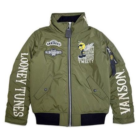 vanson(バンソン) ジャケット vanson×LOONEY TUNESコラボ MA-1ジャケット LTV-931