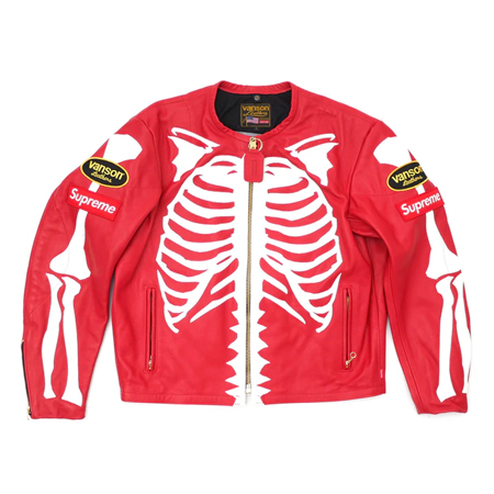 vanson(バンソン) ジャケット SUPREME × VANSON 17AW Leather Bones Jacket