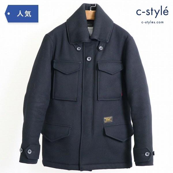 WTAPS ダブルタップス M-65 ウール メルトン ジャケット size2 中綿 コート ブラック