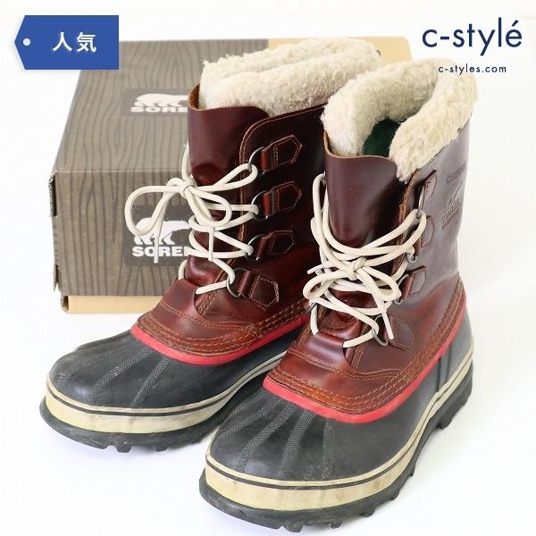 SOREL ソレル CARIBOU WL カリブー スノー ブーツ 26cm ウール 防水 レザー ブラウン