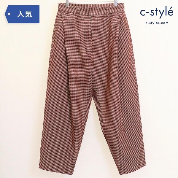 ヨシオクボ 18FW GUNCLUB CHECK WIDE PANT チェック ワイド パンツ size1 ウール100% 日本製