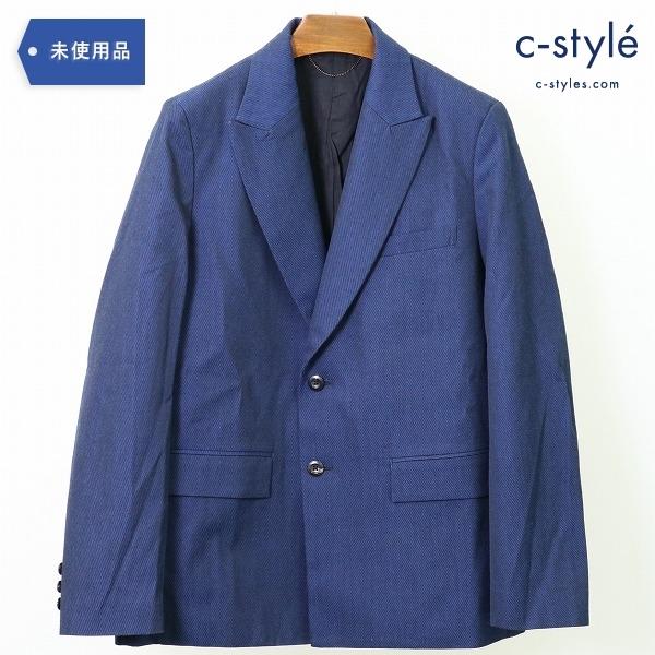 Jieda ジエダ 20AW テーラード ジャケット size1 ピークドラペル 2B 織柄 ブルー