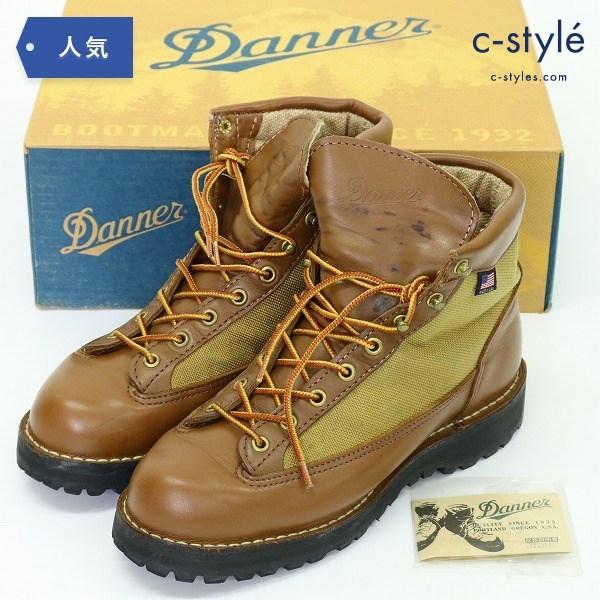 ダナー DANNER LIGHT レザー ブーツ US7 防水 GORE-TEX ビブラムソール