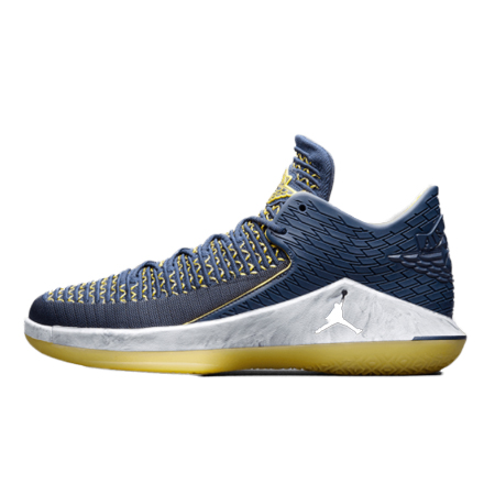 NIKE AIR JORDAN32(ナイキ エアジョーダン32) XXXII COLLEGE NAVY/METALLIC SILVER-AMARILLO