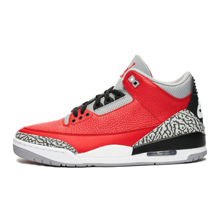 NIKE AIR JORDAN3(ナイキ エアジョーダン3) SE Red Cement Fire Red/Fire Red-Cement Grey 限定モデル