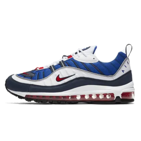 AIR MAX 98(エアマックス 98) SEISMIC VELOCITY White & University Red & Royal Blue
