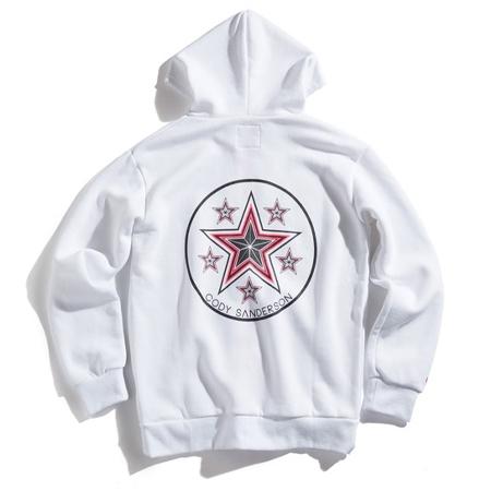 CODY SANDERSON(コディサンダーソン)アパレル StickerStar ZIP-hoodie