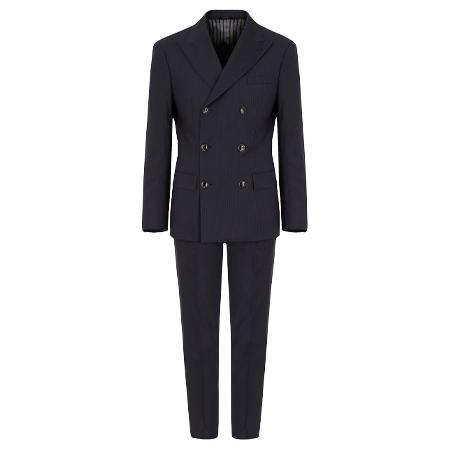 GIORGIO ARMANI(ジョルジオアルマーニ)スーツ マディソンライン フルキャンバスダブルブレストスーツ バージンウール製