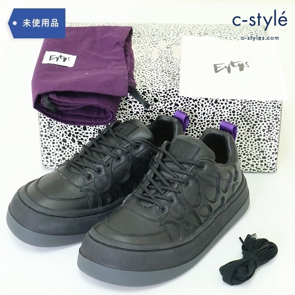 Eytys エイティーズ ソニック レザー スニーカー size40 ブラック 厚底