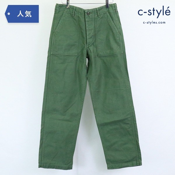 orSlow オアスロウ ファティーグ パンツ サイズS ベイカーパンツ コットン グリーン 日本製