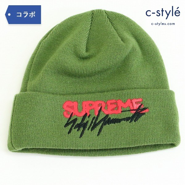 Supreme x Yohji Yamamoto x NEWERA 20AW ボックスロゴ ビーニー ONE SIZE オリーブ ニット帽