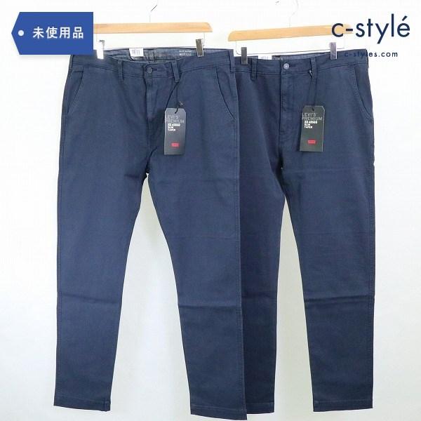LEVI'S リーバイス XX CHINO チノパン W38 スリム テーパード ネイビー ×2