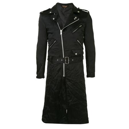 BLACK COMME des GARCONS(ブラックコムデギャルソン) ロングライン ライダースジャケット