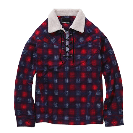 n(n) BY NUMBER (N)INE(エヌエヌバイナンバーナイン) BOA PULLOVER SHIRTS_FLANNEL OMBRE CHECK