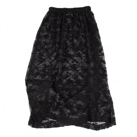 robe de chambre COMME des GARCONS(ローブドシャンブルコムデギャルソン) フラワー刺繍シースルースカート