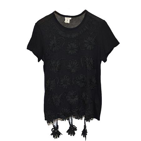 TAO COMME des GARCONS(タオコムデギャルソン) 花柄装飾Tシャツ