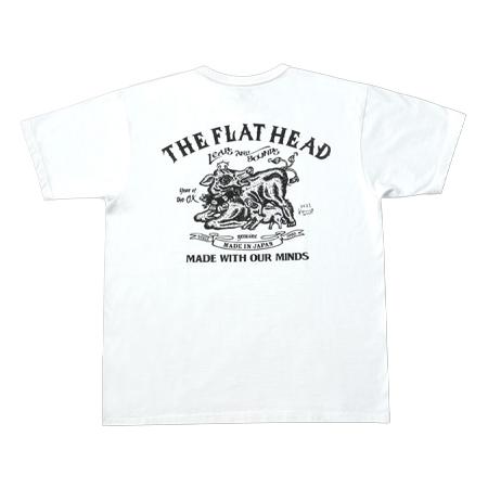 THE FLAT HEAD(ザフラットヘッド) MIWA KOMATSU 干支Tシャツ 丑 FN-THC-KM12