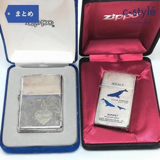 ZIPPO WHALE SLIM 2000年 XVI 刻印モデル スターリングシルバー 2点 オイルライター くじら