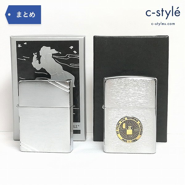 ZIPPO 50 YEARS AND GLOWING STRONGER 1932-1982 1935 REPLICA ダイアゴナルライン レプリカ