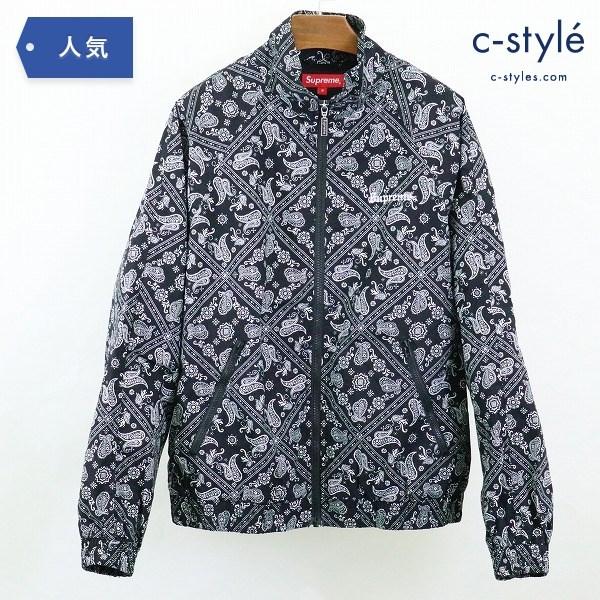 Supreme シュプリーム 18SS bandana track jacket バンダナ トラック ジャケット S ブラック