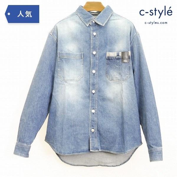 DIOR HOMME ディオール オム 18AW デニム シャツ ジャケット size37 インディゴ 長袖 日本製