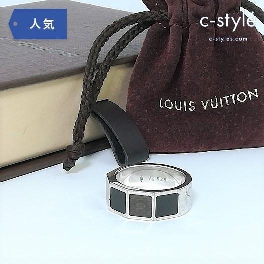 LOUIS VUITTON ルイ ヴィトン バーグ ダミエ4 M65717 サイズ17号 リング 指輪 SV925 シルバー