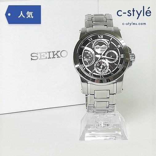 SEIKO セイコー プルミエ キネティック ダイレクトドライブ 腕時計 ムーンフェイズ 5D88-0AG0