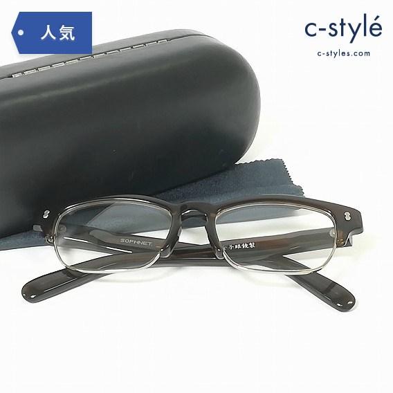 SOPHNET ソフネット 金子眼鏡 べっ甲 メガネ フレーム 眼鏡 度なし ハーフリム ナイロール