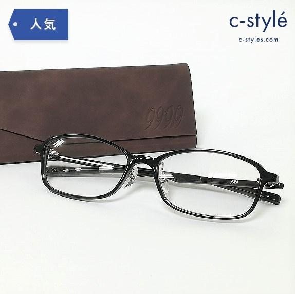 999.9 フォーナインズ NP-725 メガネ フレーム 眼鏡 フルリム ブラック 黒 伊達 度なし